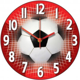 Red Football Wall Clock 28.5cm