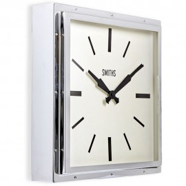 Smiths Square Chrome Wall Clock 41cm