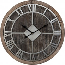 Round Barrel End Wall Clock Roman Dial 50cm