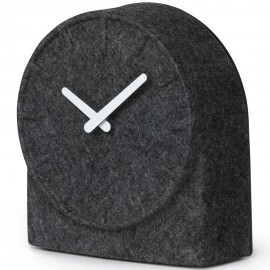 Felt Two Table Clock Grey With White Hands 21cm