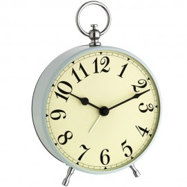 Traditional Light Blue Alarm Clock 16cm
