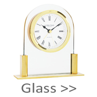 Glass Mantel Clocks