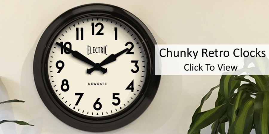 Chunky Retro Clocks
