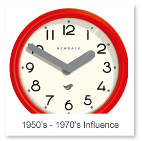 1950's - 1970's Influence Wall Clocks