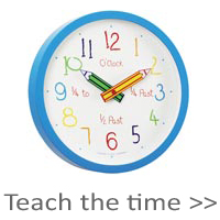 Childrens Teach The Time Clocks