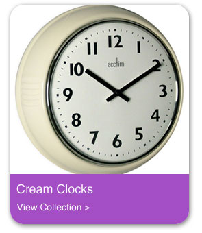 Cream Wall Clocks