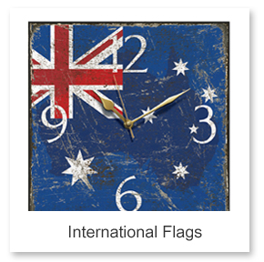 Flag Wall Clocks