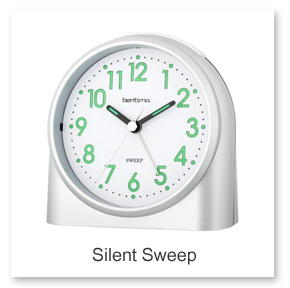 Silent Sweep Alarm Clocks