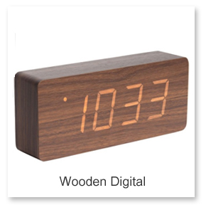Wooden Digital Desk Clocks